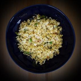 cauliflwer couscous upma for the blog