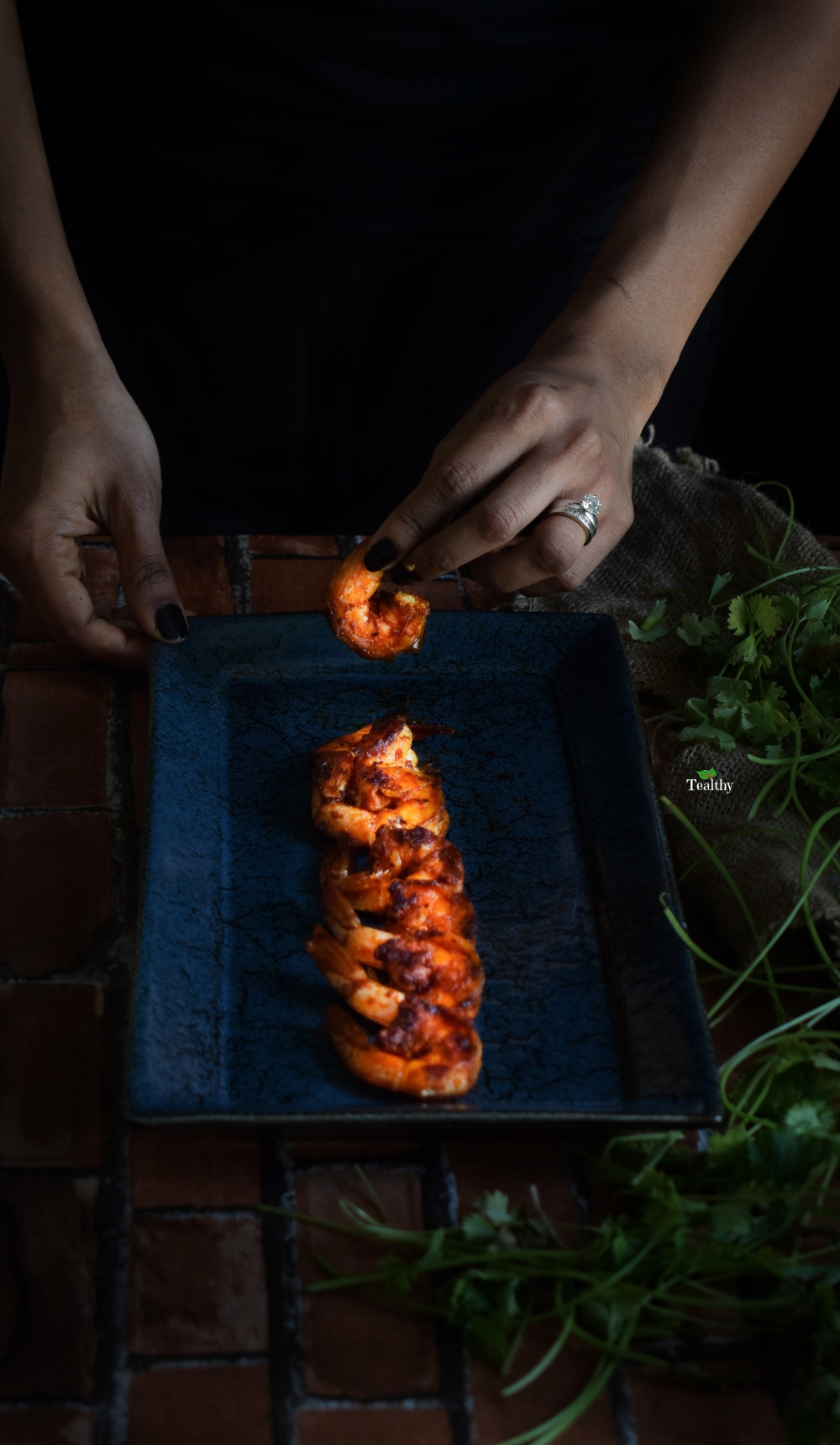 Grilled prawns with kerala spices with watermark 3